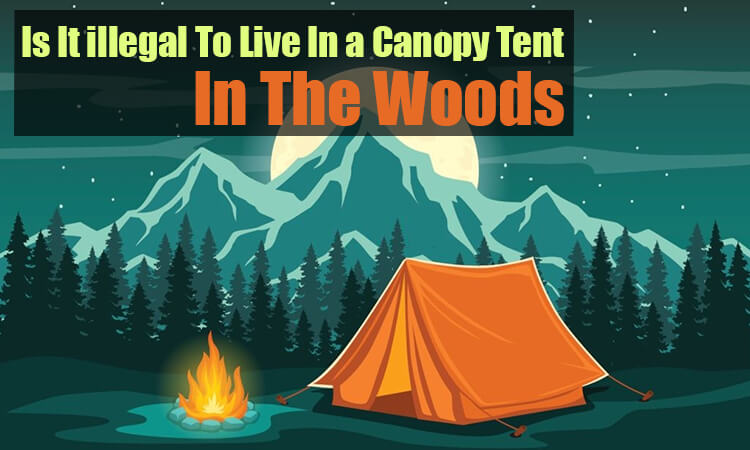 Is it illegal to live in a canopy tent in the woods